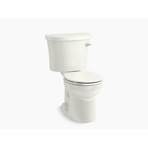 White Two-piece Round-front 1.28 Gpf Toilet With Class Five Flushing Technology and Right-hand Trip Lever, Seat Not Included