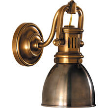 E. F. Chapman Yoke 1 Light 5 inch Hand-Rubbed Antique Brass Suspended Wall Sconce Wall Light in Antique Nickel
