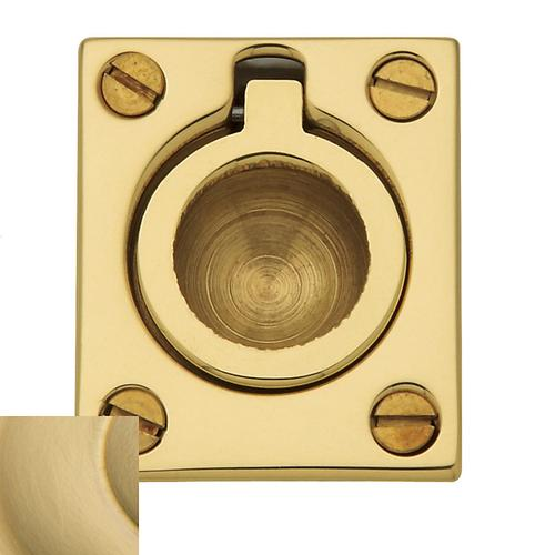 Baldwin - Lifetime Satin Brass Flush Ring Pull
