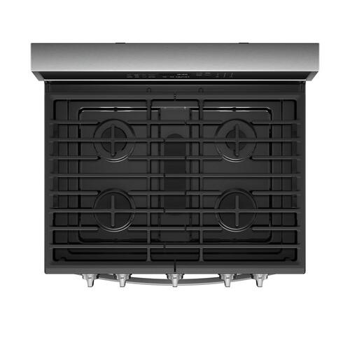 Whirlpool Canada - 5.8 Cu. Ft. Smart Freestanding Gas Range with EZ-2-Lift Grates