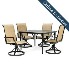 Addyson 5pc Sling Dining Set (Square table and 4 Swivel)