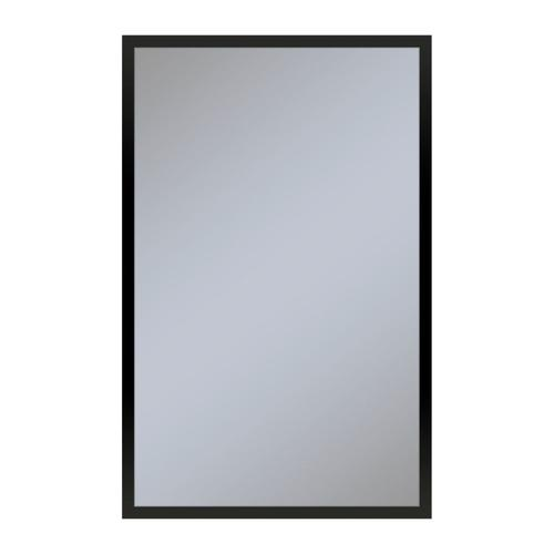"""Profiles 19-1/4"""" X 30"""" X 6"""" Framed Cabinet In Matte Black With Electrical Outlet, Usb Charging Ports, Magnetic Storage Strip and Left Hinge"""