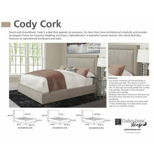 CODY - CORK King Bed 6/6 (Natural)