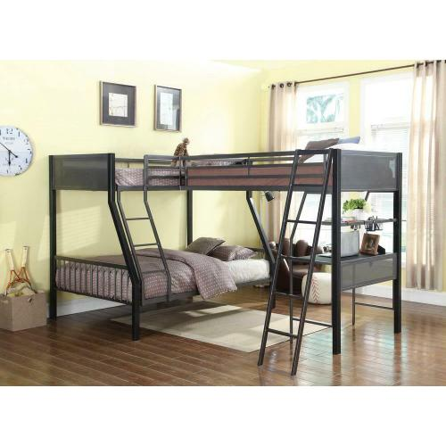 Meyers Traditional Grey Twin-over-full Bunk Bed