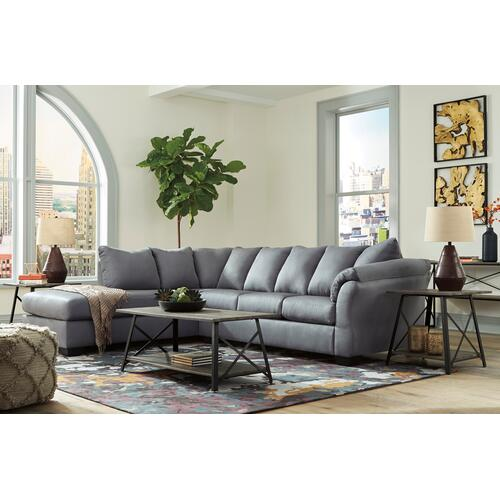 Signature Design By Ashley - Darcy LAF Corner Chaise Steel