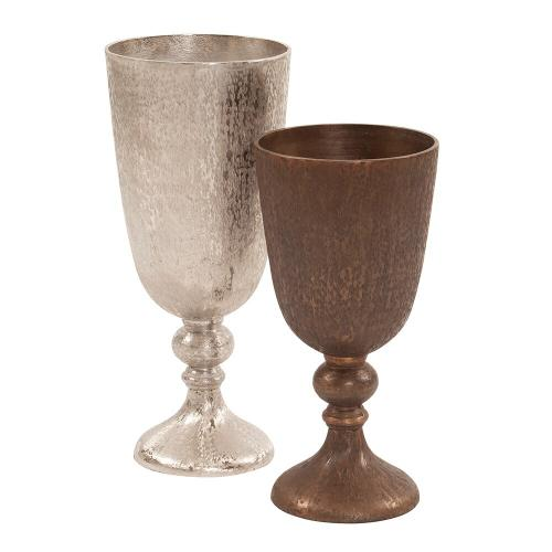 Howard Elliott - Textured Chalice Vase in Dark Copper, Small