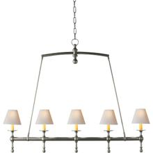 E. F. Chapman Classic 5 Light 45 inch Antique Nickel Linear Pendant Ceiling Light