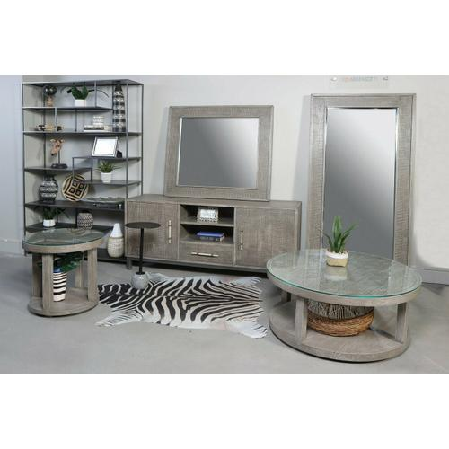 Parker House - CROSSINGS SERENGETI Accent Table (made of Iron & Marble)