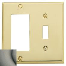 View Product - Antique Nickel Beveled Edge GFCI / Single Toggle Combo