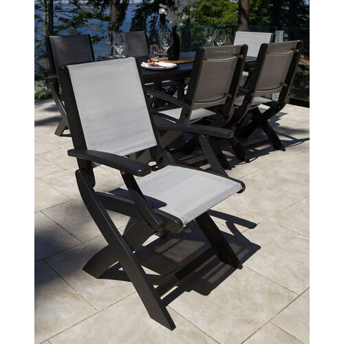 White Coastal Folding Chair