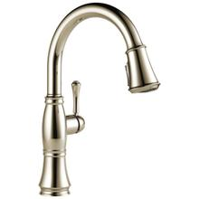 Lumicoat Polished Nickel Single Handle Pulldown Kitchen Faucet