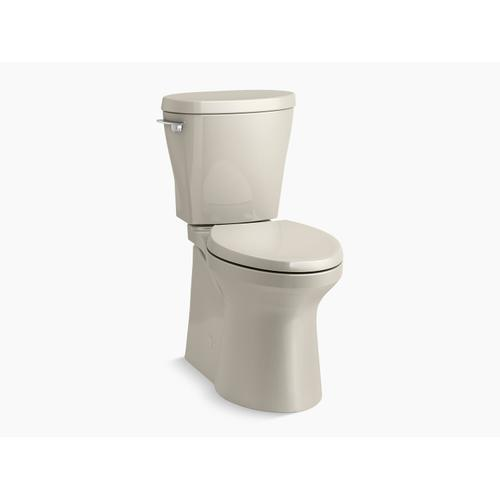 Kohler - Sandbar Betello(tm) Comfort Height Two-piece Elongated 1.28 Gpf Toilet Skirted Trapway, Revolution 360 Swirl Flushing Technology and Left-hand Trip Lever, Seat Not Included