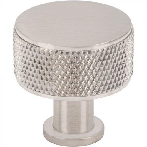 Vesta Fine Hardware - Beliza Cylinder Knurled Knob 1 Inch Brushed Satin Nickel Brushed Satin Nickel