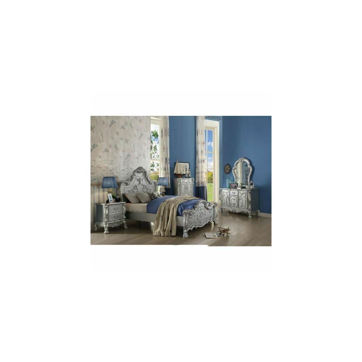 ACME Dresden Queen Bed - 30680Q - Silver
