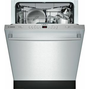 Bosch100 Series Dishwasher 24'' Stainless steel SHXM4AY55N
