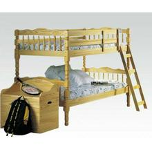ACME Homestead Twin/Twin Bunk Bed - 02299_KIT - Natural