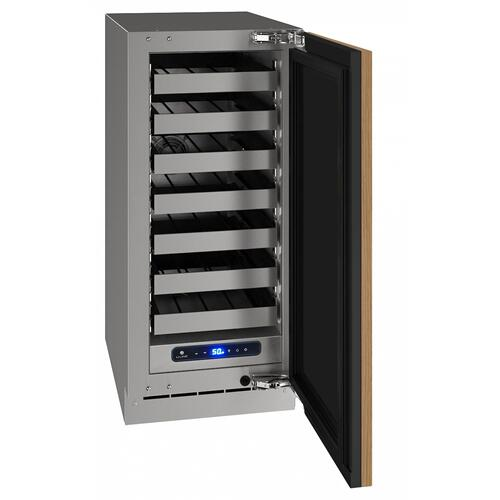 """U-Line - Hwc515 15"""" Wine Refrigerator With Integrated Solid Finish and Field Reversible Door Swing (115 V/60 Hz Volts /60 Hz Hz)"""