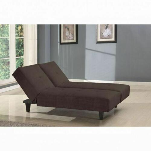 ACME Cybil Adjustable Sofa w/2 Pillows - 05855W-BR - Brown Microfiber