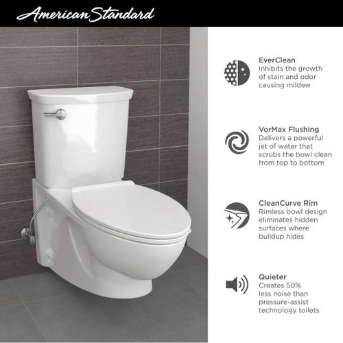 American Standard - Glenwall VorMax Wall Hung Elongated Commercial Toilet  American Standard - White