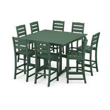View Product - Lakeside 9-Piece Bar Side Chair Set in Green