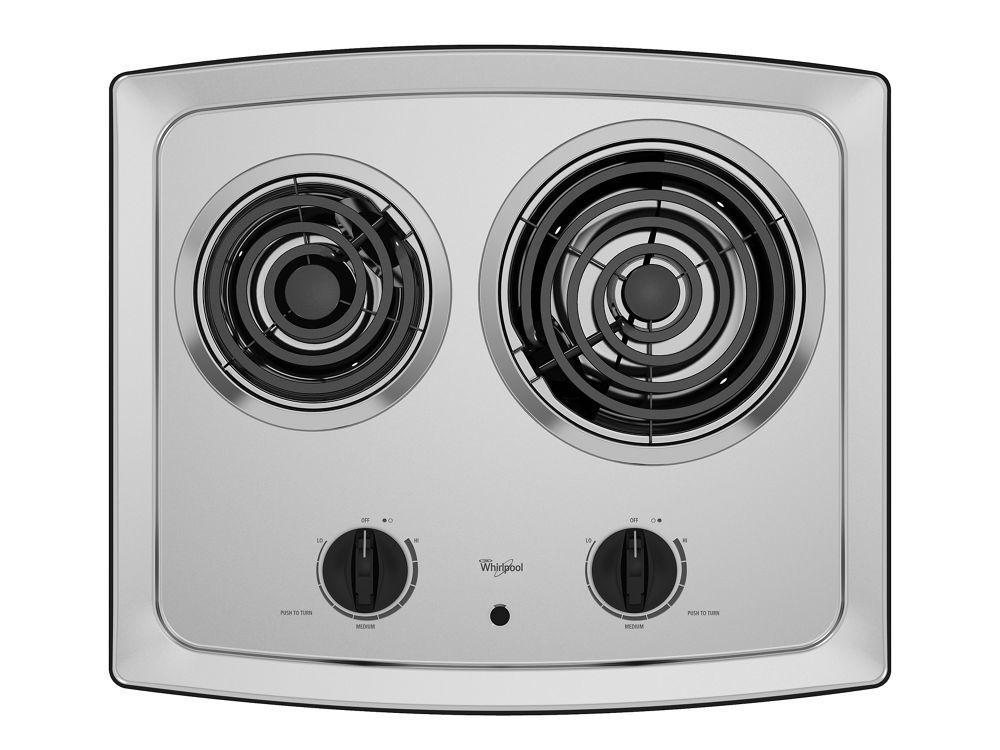 Whirlpool21-Inch Electric Cooktop With Stainless Steel Surface