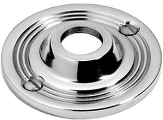 "Satin Chrome Visible fix rose, 2 3/4"" diameter"