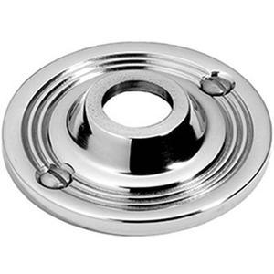"Chrome Plate Visible fix rose, 2 3/4"" diameter"