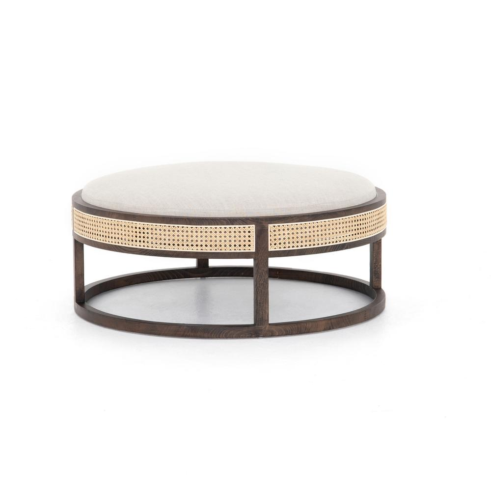 See Details - Savory Parchment Cover Cooper Ottoman