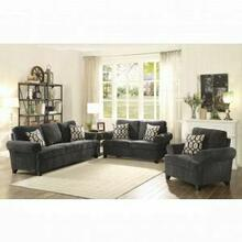 ACME Alessia Sofa w/2 Pillows - 52828 - Dark Gray Chenille