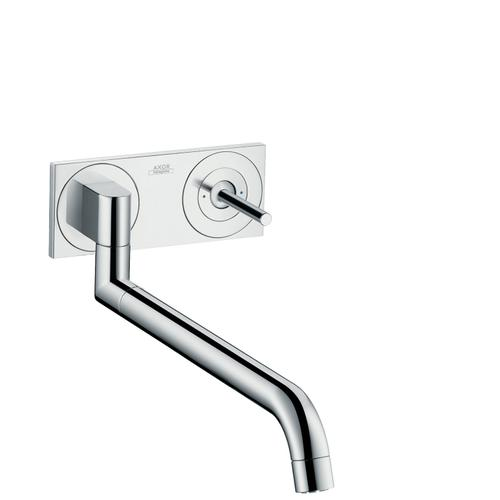 Brushed Nickel Single lever kitchen mixer for concealed installation wall-mounted