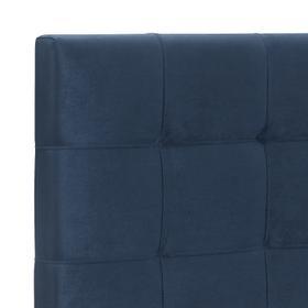 Delaney Upholstered Queen Bed, Blue Velvet