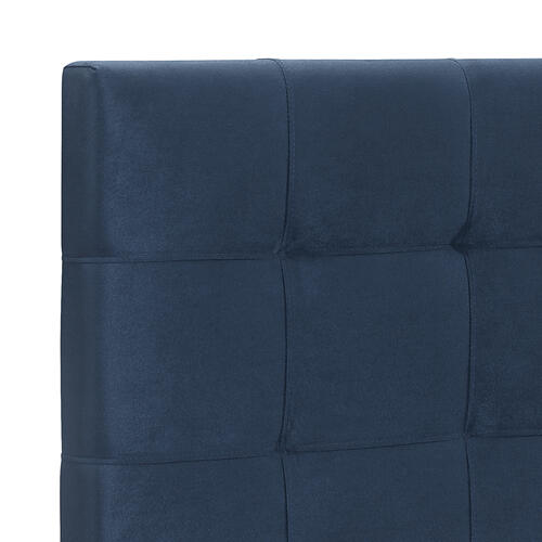 Delaney Upholstered Queen Bed, Blue Velvet