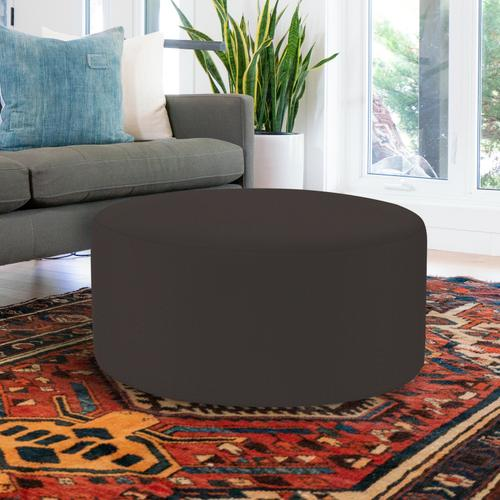 Universal Round Ottoman Cover Seascape Charcoal (Cover Only)