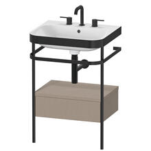 Furniture Washbasin C-bonded With Metal Console Floorstanding, Linen (decor)