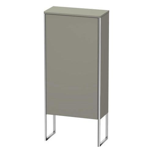 Semi-tall Cabinet Floorstanding, Stone Gray Satin Matte (lacquer)