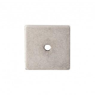 Square Backplate 1 1/4 Inch - Pewter Antique