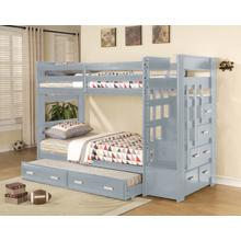 Beckley Twin over Twin Bunkbed, Gray