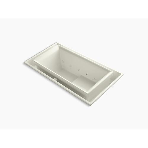 "Biscuit 75"" X 41"" Drop-in Effervescence Bath With Right-hand Drain"