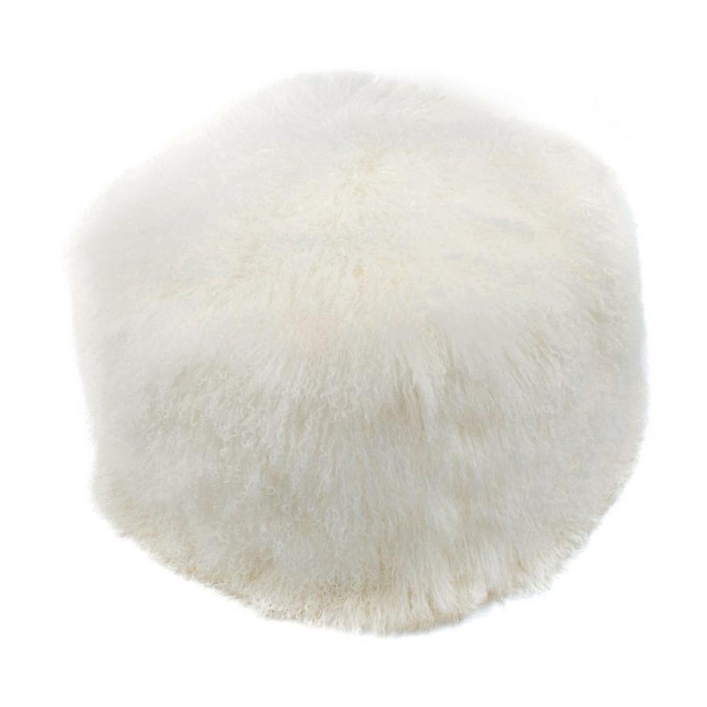 See Details - Lamb Fur Pouf Natural