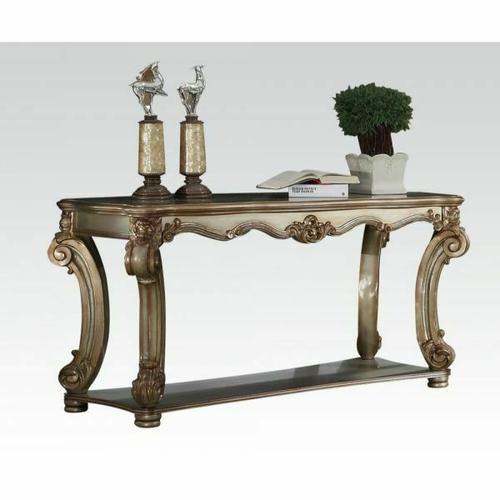 ACME Vendome Sofa Table - 83002 - Gold Patina