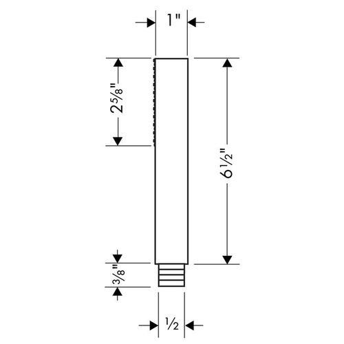 Brushed Nickel Baton hand shower 1jet 2.5 GPM
