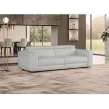 See Details - Coronelli Collezioni Icon - Modern Italian Grey Leather Queen Size Sofa Bed