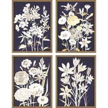 Midnight Florals S/4