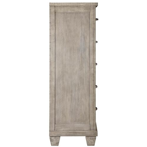 Naydell Five Drawer Chest Rustic Gray