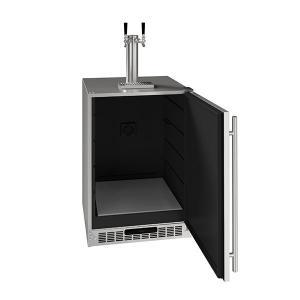 "U-Line24"" 2 Tap Beer Dispenser With Stainless Solid Finish (115 V/60 Hz Volts /60 Hz Hz)"