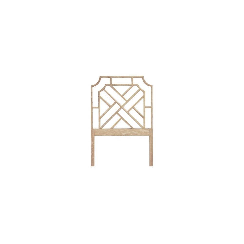 Chippendale Style Twin Bamboo Headboard In Cerused Oak