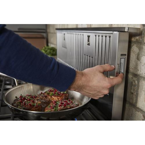 """36"""" Retractable Downdraft System, 600 CFM Stainless Steel"""