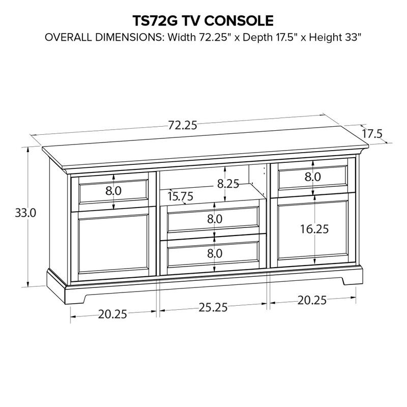 Howard Miller Custom TV Console TS72G