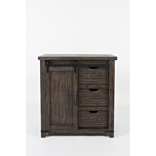 "Madison County 32"" Barn Door Accent Cabinet - Barnwood"
