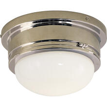 E. F. Chapman Marine 1 Light 8 inch Chrome Flush Mount Ceiling Light